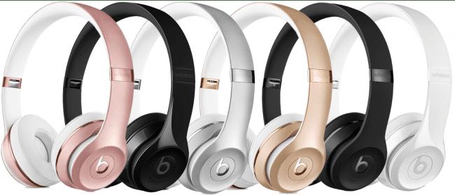Beats Solo 3 цветовое разнообразие