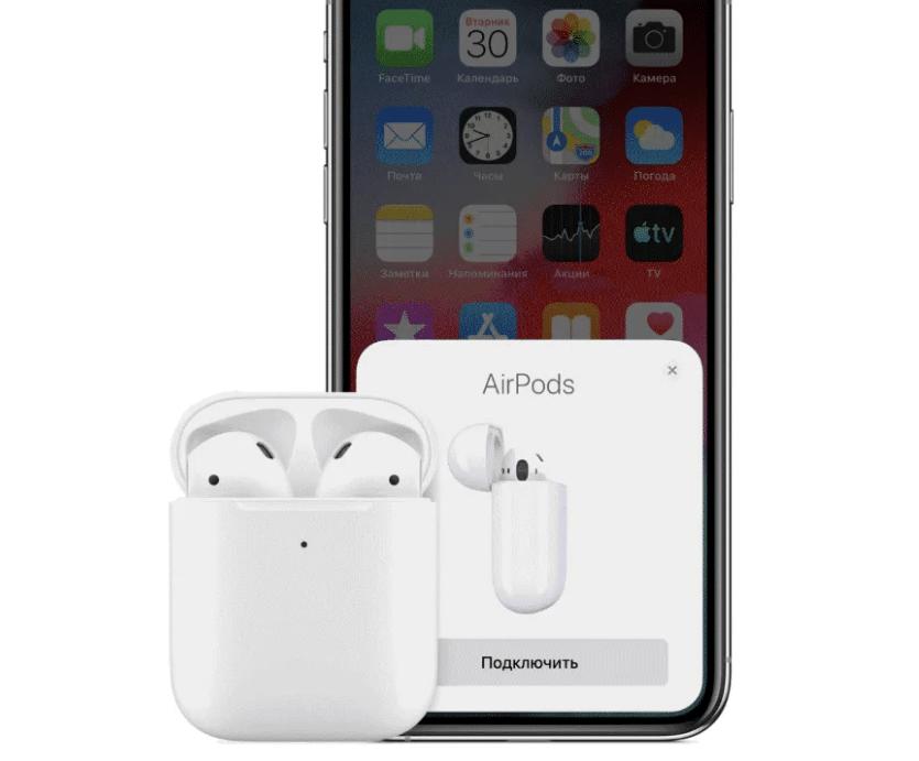AirPods подключённые к IPhone