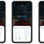 заряд airpods и кейса на экране iphone